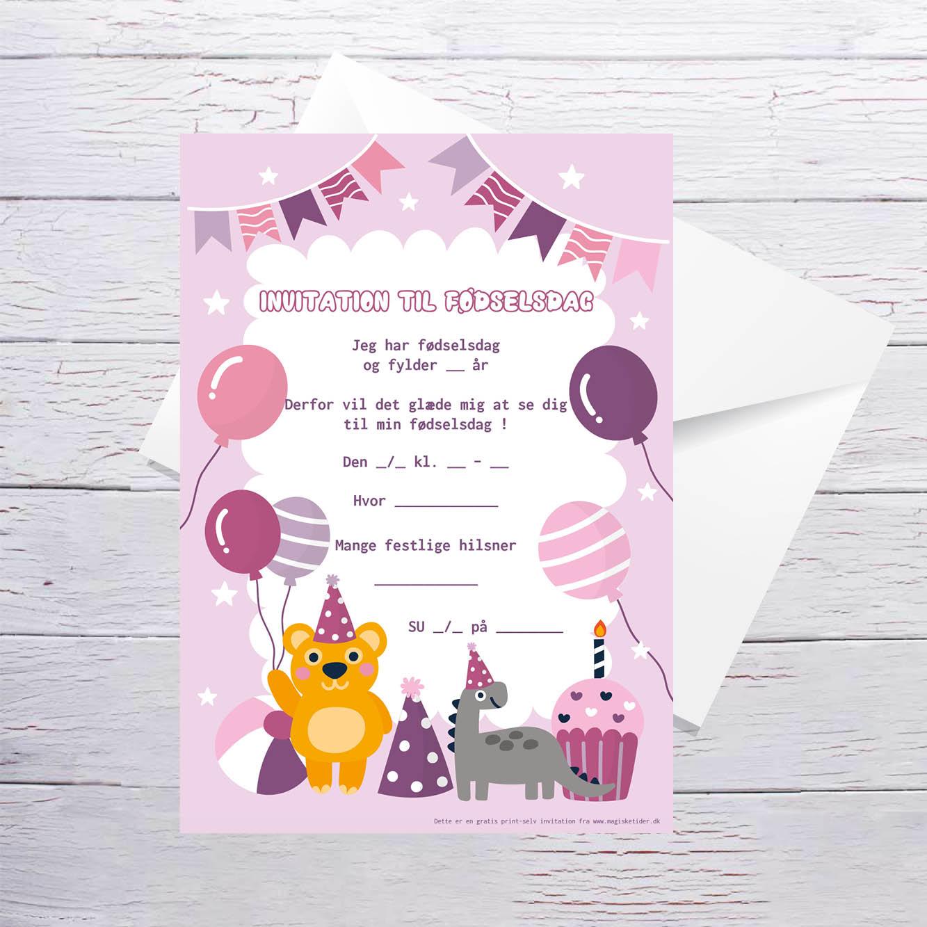 Invitationer børnefødselsdag