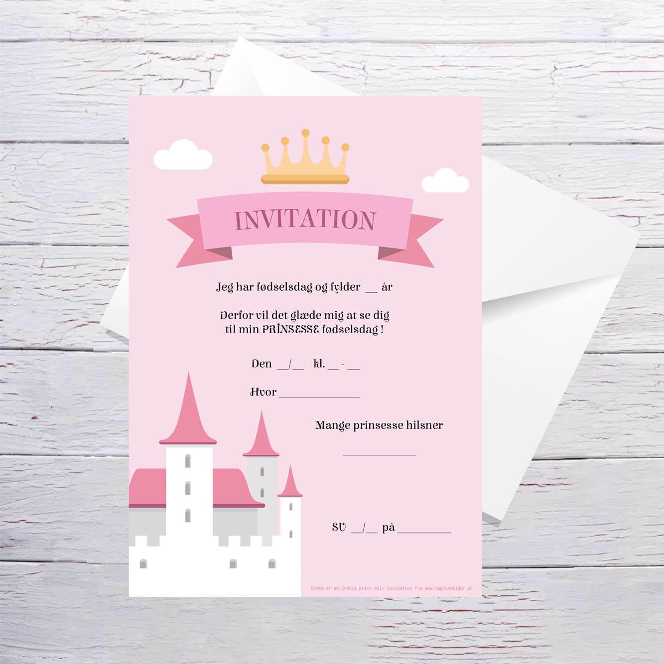 Gratis invitationer børnefødselsdag