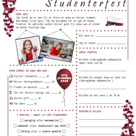 Quiz til studenterfest - stx - pige udgave