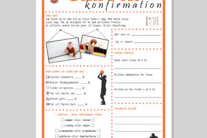 Konfirmationsquiz i basketball tema