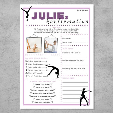 Quiz til konfirmations i gymnastik tema