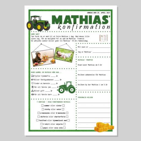 Konfirmationsquiz med traktor tema