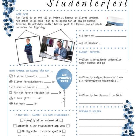 Quiz til studenterfest - hf - drenge udgave