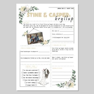Bryllupsquiz med i vintage tema