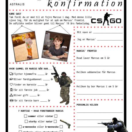Konfirmationsquiz med CS:GO tema