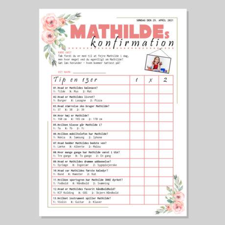 TIP en 13'er til konfirmation i tema med rosa blomster