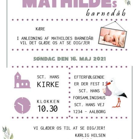 invitation-barnedåb_blomst-lilla_pige