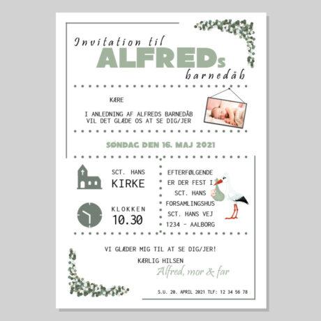 invitation-barnedåb_konfetti-grøn_dreng-ramme