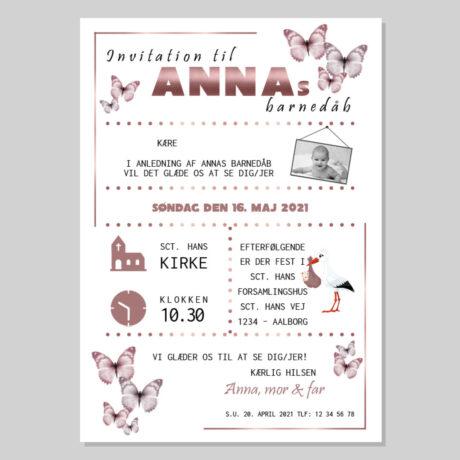 invitation-barnedåb_rosegold_pige-ramme