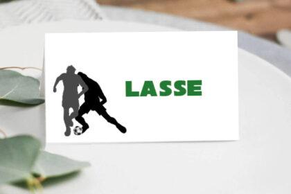 Bordkort med fodbold tema