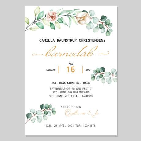 invitation-barnedåb_Eukalyptus_pige-ramme